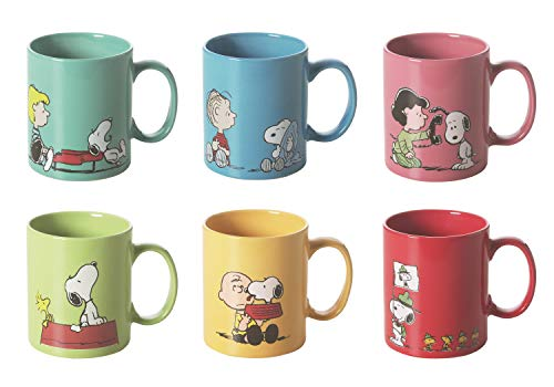 BES1J Set, 6 Teilig Taza de Snoopy para Pared