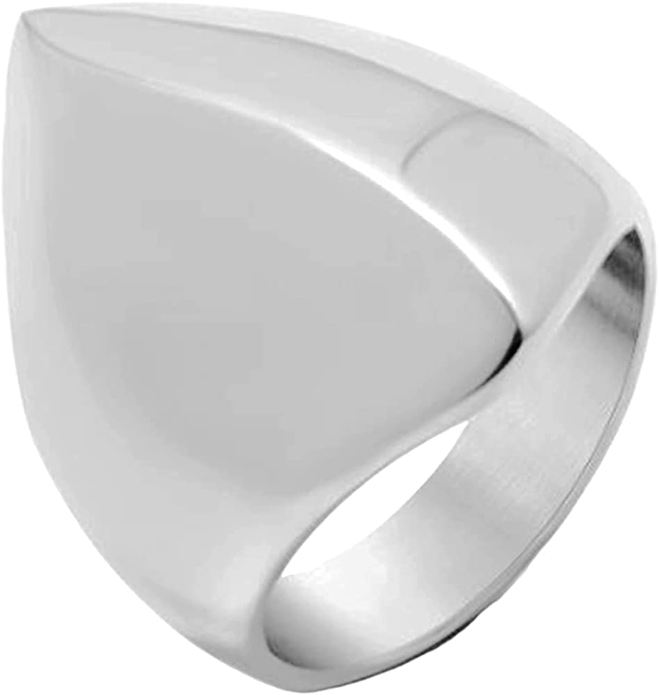 Stainless Steel Irregular Shape Mountain Hill Pyramid Shape Biker Statement Cocktail Party Ring