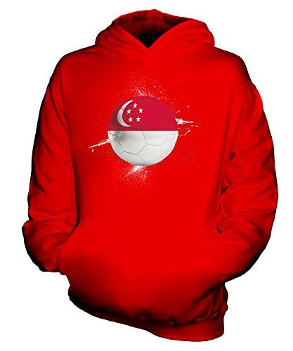 Candymix Singapore Football Splatter - Sudadera unisex con capucha para niños y niñas Rojo rosso 7-8 Años