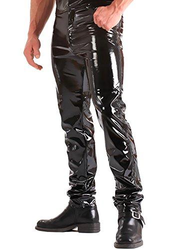 Eer Heren Jeans in PVC Zwart Maat 40