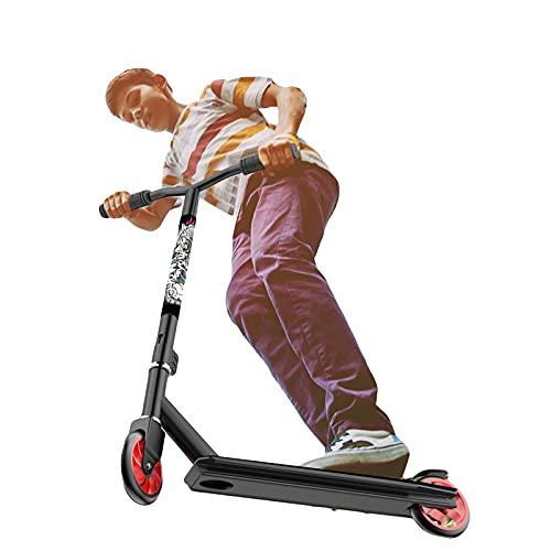 Stunt Scooter - Kick Scooter con Rodamientos de Bolas ABEC 7, Freestyle Stunt Scooter, Stunt Scooters para NiñOs, Ruedas de Poliuretano de Alto Impacto,Azul