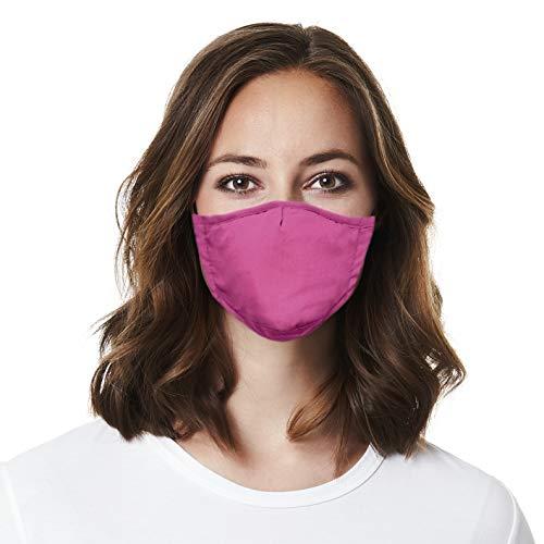 Gesichtsmasken 3er Set Nasen- und Mundschutz | Maske fixierbar im Nasen-Bereich | nachhaltig | 100% Baumwolle [Leo/Zebra/Pink]