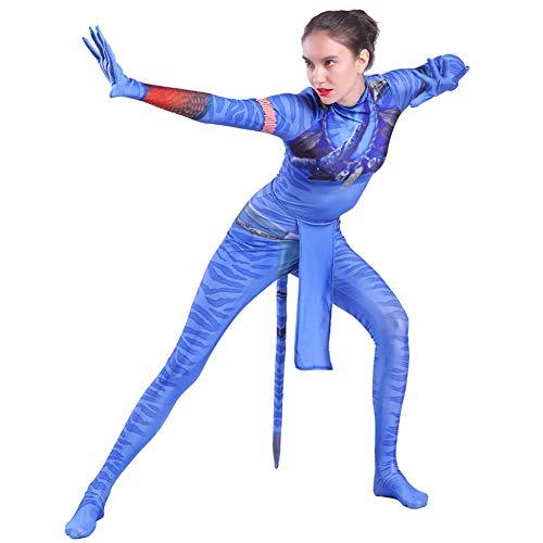 Avatar 2 Neytiri Kampf Kostüm Frauen Anime Cosplay Kleidung Erwachsene Kinder Filmspiel Kostüm Halloween Weihnachten Film Bühne Rollenspiel Kleidung,Adult-XXXL