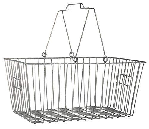 IB Laursen Einkaufskorb Großer Korb aus Metall 26,5 x 34 cm Kiste Aufbewahrungskorb mit Henkel