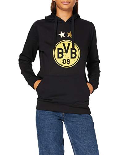 Borussia Dortmund, BVB-Kapuzensweatshirt mit Logo für Frauen, Schwarz, XL