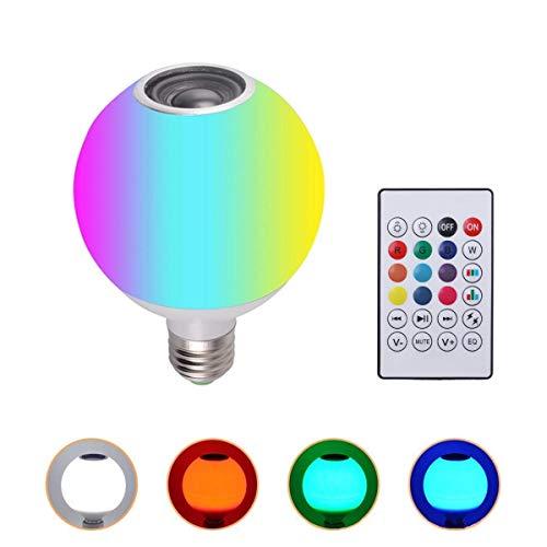 LILICEN Wireless 12W AC100-245V RGBW LED Bluetooth Altavoz Bombilla de reproducción de música de la lámpara + Remoto Wi-Fi Bulbos de Control