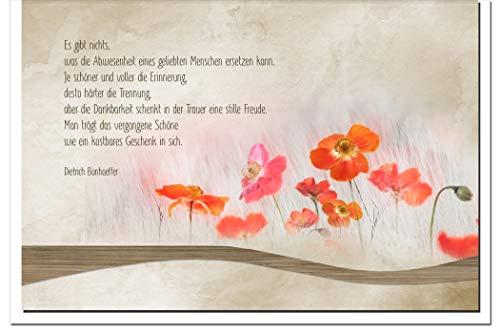 Trauerkarte ERINNERUNG | Mohn | metALUm # 1201090