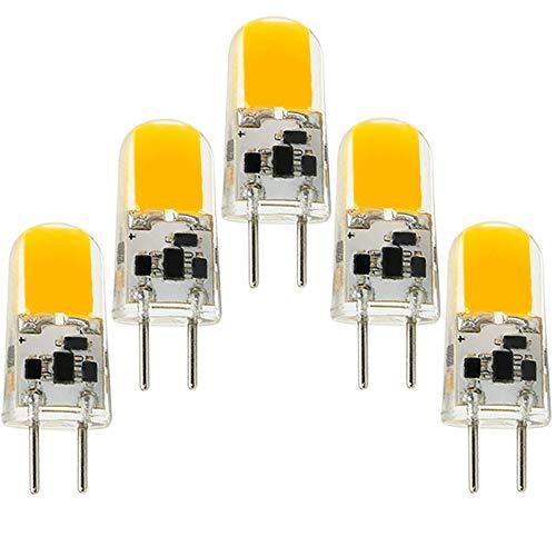 BQHY GY6.35 COB 4W AC12V G6.35 LED Bi-pin Conchiglia in Silicone, Equivalente 40W Alogena, Angolo Del Fascio Di 360 Gradi, Bianco Caldo 3000K Non Dimmerabile (Confezione Da 5)