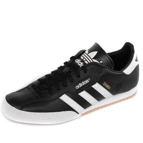 adidas Originals Samba Super - Zapatillas de deporte (talla L), color negro y blanco, color Negro, talla 44 2/3 EU