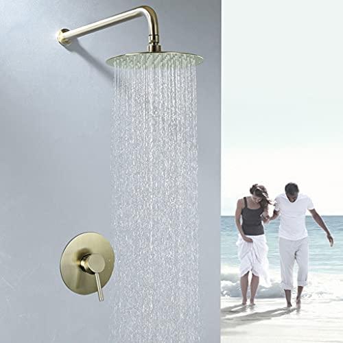 Sprinkler en la Pared Conjunto de Ducha Invisible para Baño y Baño Gran Cantidad de Agua de Acero Inoxidable. (Color : Brass)
