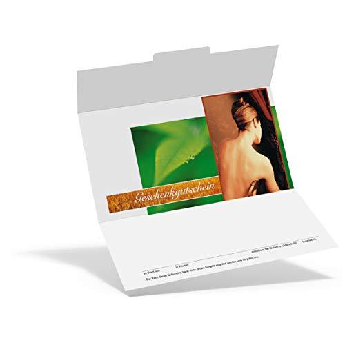 Pythagoras Geschenkgutschein Trend Naturkosmetik KS804 (100 Stück), Gutschein für Kosmetikstudios und Wellness Oasen mit großem Feld für Ihren Firmenstempel