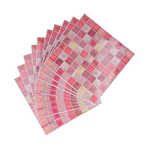 Adhesivo para azulejos, el material es resistente al agua y al aceite Delicado y cómodo al tacto Fácil de limpiar Adhesivo de pared impermeable para gabinetes para baños