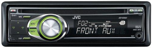 JVC KD R 302 MP3-CD-Tuner (Front Aux, grüne Tastenbeleuchtung) schwarz