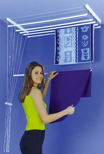 ETEND'MIEUX® stendibiancheria sospesa a soffito 150cm con 7 aste