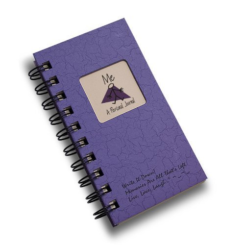 Me, A Personal Journal - MINI Purple Hard Cover (prompts on every page, recycled paper, read more...)