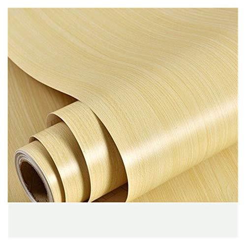 WHYBH HYCSP Holzmaserung Tapete Vinyl Selbstklebendes Dekorfolie for Wohnzimmer Küchenschrank Möbel Wasserdicht Kontakt Papier (Color : Yellow fir Wallpaper, Size : 40cm x 3m)