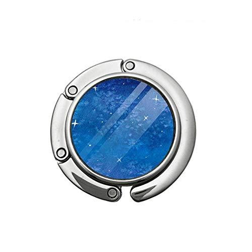 Aquarell Sternenhimmel Faltbarer Geldbeutel Haken Handtasche Faltbare Kleiderbügel mit einem Handtaschen Tischhalter