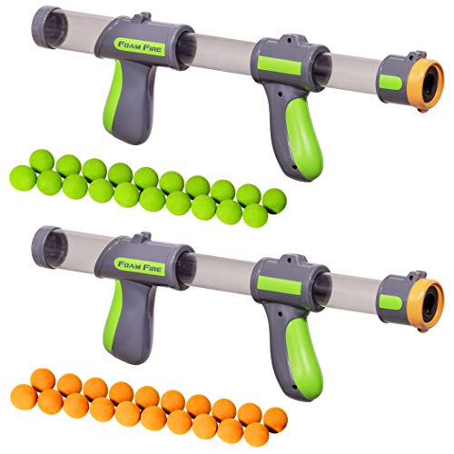 Gosports foam fire blasters 2 pack with 40 balls, multicolor