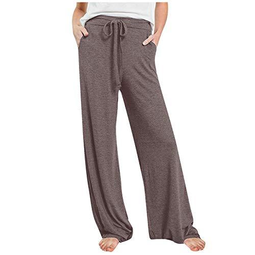 MORCHAN ❤ Femmes Pantalons décontractés Impression Large Jambe Bouton de Poche lâche Jeans Sarouel Combinaisons Collants Courts Pantalon Leggings Knickerbockers(L,Blanc)