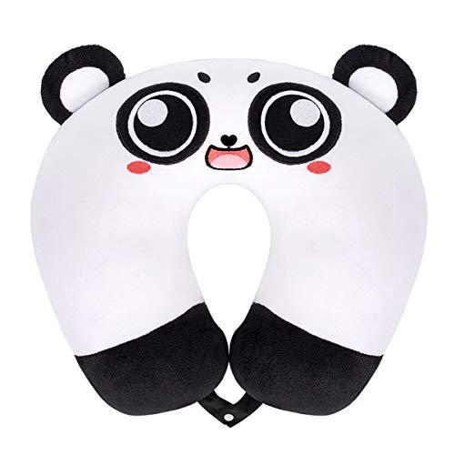 GLAUCUS Cuscino da Viaggio Supporto Cervicale Collo per Bambini Allattamento e Gravidanza Cuscino Maternita di Animale (Grande Occhio Panda)