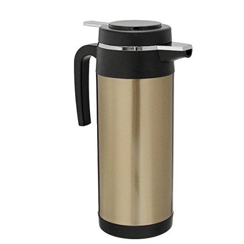 IJEOKDHDUW 1200 ml Kettle de Coches BottleSesteainless Steel 12V Adaptador de Coche Taza eléctrica Taza de Agua Caldera de Agua