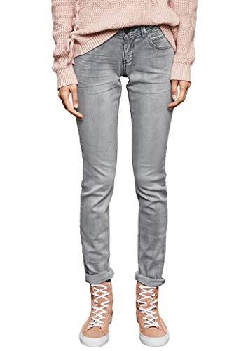 Q/S designed by - s.Oliver Damen Skinny Jeans, Schwarz (Black Denim Bleached 96z1), 36W / 30L
