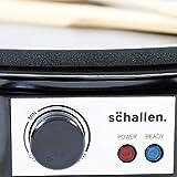 Schallen Black 1000W Electric Traditional Pancake & Crepe Maker Machine, 12