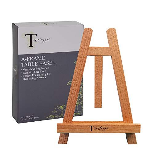Caballete de mesa de madera TAVOLOZZA de 28 cm de alto, caballete de fiesta de pintura, caballete para niños, estudiantes, mesa de clase, escritorio de la escuela, lienzo portátil para fotos