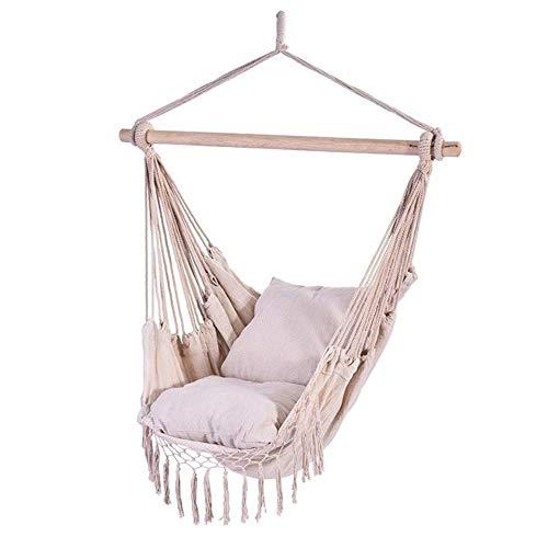 HYTC Outdoor Camping Swing Chair Hangmat Macrame Opknoping Hangmat Vouwen Binnen Kinderen Speel Katoen Hangstoel Voor Kinderen En Peuter