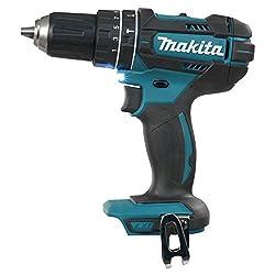 Makita DHP482Z Schlagbohrschrauber 18 V (ohne Akku, ohne Ladegerät), Blau, Silber, Small
