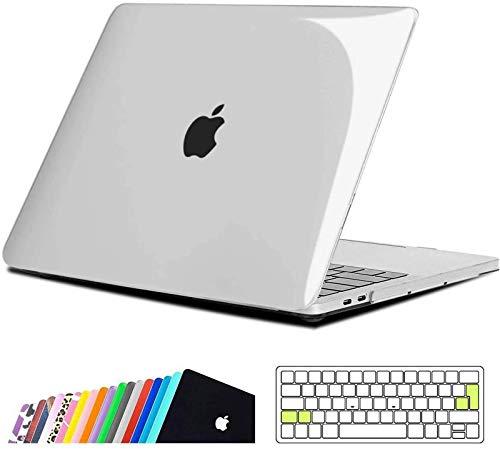 iNeseon Custodia MacBook PRO 15 2019/2018/2017/2016,Rigida Case Cover e EU Versione Trasparente Tastiera Copertina per MacBook PRO 15 Pollici con Touch Bar/Touch ID Modello A1990 A1707, Cristallino