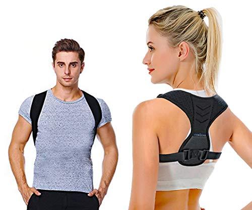 cornGee Corrector de Postura hombre mujer, Registrado por la FDA, Alivio del dolor de cuello y espalda, Soporte espalda, Faja para postura de espalda, Cómodo entrenamiento de...