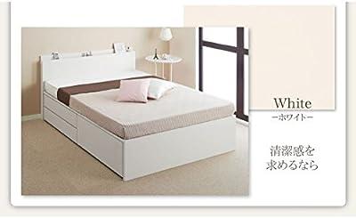 チェストベッド ダブル[Inniti][フレームのみ]ホワイト 日本製_棚・コンセント・仕切り板付き大容量 イニティ