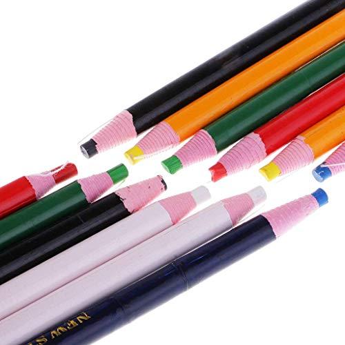 Sitrda 12 Stks Markering Gereedschap Peel Off Markers Vet Wax Potlood voor Metalen Glas Stof