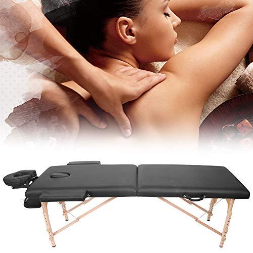 Mesa de masaje plegable, madera, altura ajustable, salón, mesa de spa, cama...