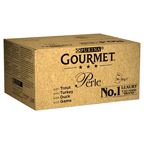Purina Gourmet Perle húmedo Cat Food, Mini Filetes en salsa, Country Medley, paquete de 96 bolsas
