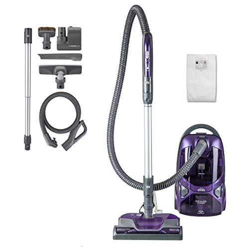 Kenmore 81615 600 Series Pet Friendly Lightweight Bagged Canister Vacuum with Pet PowerMate, Pop-N-Go Brush, 2 Motors, HEPA Filter, Aluminum Telescoping Wand, Retractable Cord and 4 Cleaning Tools