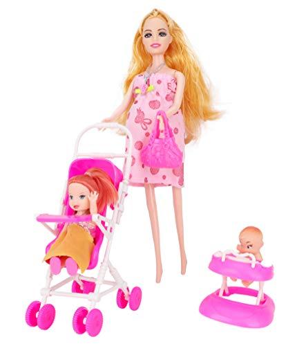 Toyland® Pop Van 30cm Met Baby- En Babypump - Met Buikopening