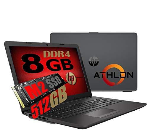 "Notebook Pc Portatile HP 255 G7 Display 15.6"" /Cpu Amd A4 da 2,3ghz A 2,6GHz /Ram 8Gb ddr4 /SSD M2 512GB /Vga Radeon R3 / Hdmi / Masterizzatore Wifi Bluetooth /Licenza Windows 10 pro + Open Office"