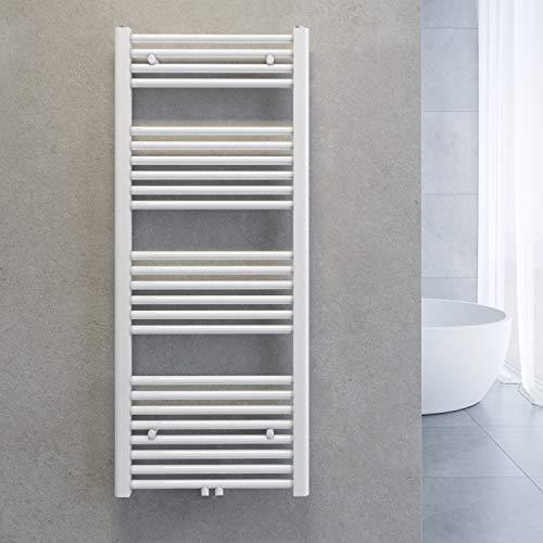 SONNI Handtuchtrockner Heizkörper Bad Mittelanschluss Handtuchwärmer Badheizkörper Weiß Gerade 50 * 120cm