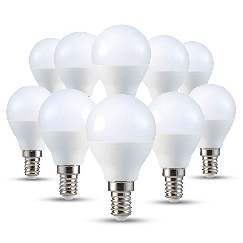 V-TAC E14 LED Lampe P45, Tropfenform, Warmweiss (2700k) ,4W (10-er SET)