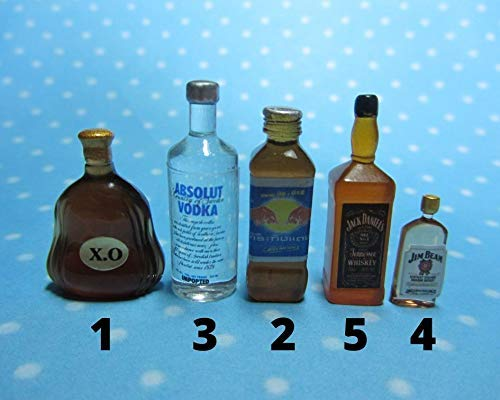 Silicone 3D-molds in the form of bottles of different shapes and sizes (1:12). Molds for polymer clay and plastic.