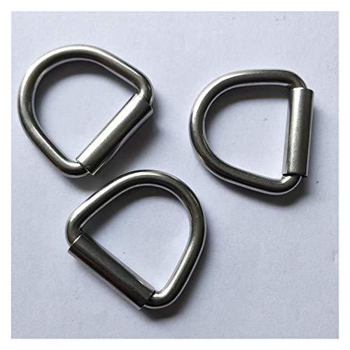 100 unids con enlace de crosspiece D-Ring con enlace de crosspiece enlace D-anillo de acero inoxidable (Size : M10)
