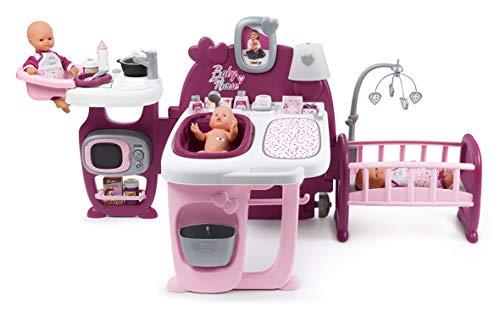 Smoby 220349 La Casa de Los Bebés Baby Nurse para Muñecos Bebé, multicolor, única , color/modelo surtido