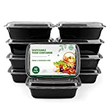 Meal Prep Containers Set 1 Compartment, Stackable Food Storage with Airtight Lids, Microwave, Freezer and Dishwasher Safe, BPA Free Reusable Lunch Box