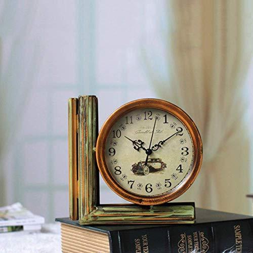 Wyxy Reloj De Escritorio De Doble Cara Antiguo, Reloj De Escritorio, Artesanías Retro Hechas a Mano, Reloj De Banco, Decoración Moderna De Oficina En Casa, Adornos De Exhibición De Escritorio