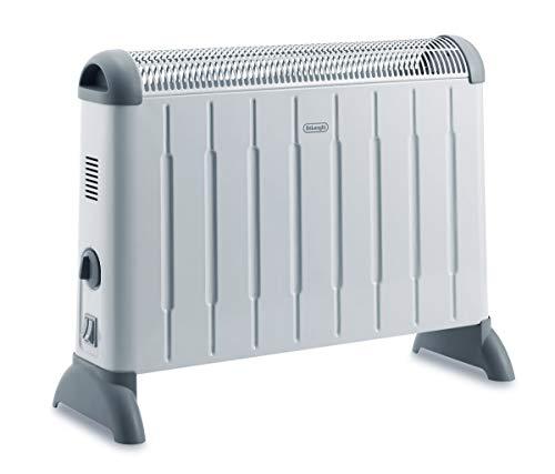 DeLonghi Konvektor HCM2030 - Heizgerät mit 3 Heizstufen für Räume bis 60 m³, Sicherheitsthermostat, Frostschutzfunktion, Raumthermostat, grau