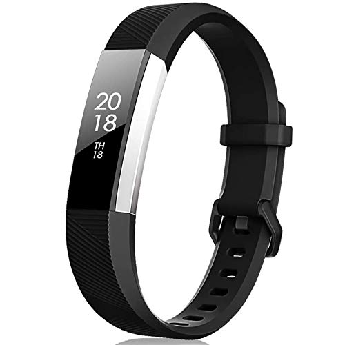 TreasureMax for Fitbit Alta Bands and Fitbit Alta HR Bands, Black, Size 5.5