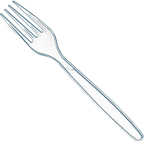 100 Clear Plastic Forks   Heavy Duty Plastic Silverware Forks   Fancy Plastic Cutlery   Elegant Disposable Forks Pack   Bulk Disposable Flatware   Plastic Utensils Set   Disposable Silverware Cutlery