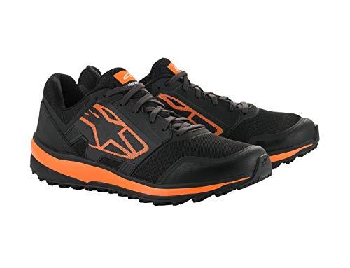 Alpinestars Meta Trail - Botas de moto (talla 46), color negro y naranja